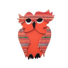 Erstwilder eglantine owl brooch - hardtofind.
