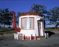 Tea House on old Route 66 - you never know what you'll find on Route 66 but you know it's going to be kitchy and fun.
