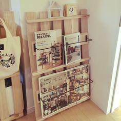 すのこ/本棚DIY/すのこリメイク/セリア/棚のインテリア実例 - 2015-02-04 13:36:08   RoomClip(ルームクリップ)