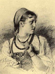 Репин Илья Ефимович. Портрет Татьяны Анатольевны Мамонтовой. 1878