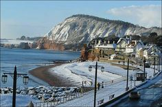 A snowy Sidmouth, Devon Devon Beach, Into The West, Jurassic Coast, Devon And Cornwall, London Pictures, British Countryside, Kingdom Of Great Britain, Exeter, Places To See