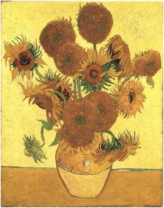 Vincent van Gogh Still Life: Vase with Fifteen Sunflowers Painting