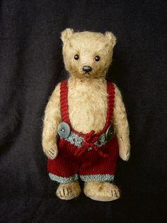 AndreiVintage Style Mohair Artist Art Teddy Bear by aerlinnbears, $295.00