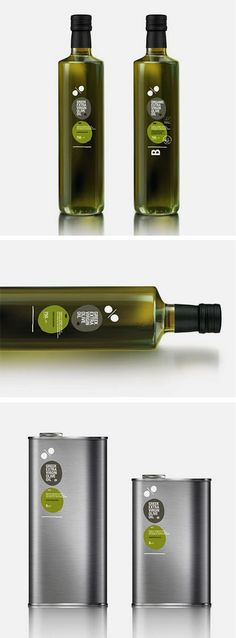 Oil packaging in glass and can