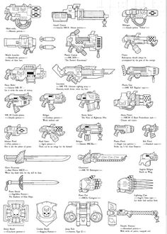 kaiserlouis-philipv: Warhammer 40k Blood Angels Weapons and Wargear.