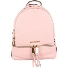 MICHAEL Michael Kors Backpacks ($300) ❤ liked on Polyvore featuring bags, backpacks, backpack, old pink, leather bags, pink backpack, day pack backpack, pink leather backpack and leather backpack