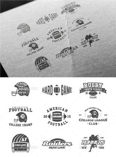 Sports American Football Badges #design Download: http://graphicriver.net/item/sports-american-football-badges/12636677?ref=ksioks