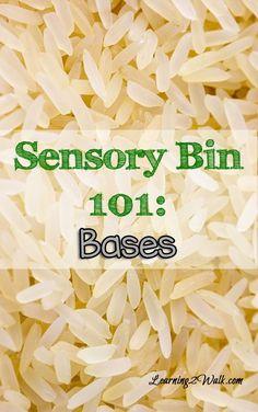Sensory Bin 101: Bases