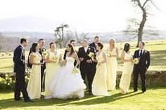 Image result for yellow wedding parties