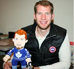 Maple Leaf Jeremy Reimer with Lil' Reimer.  @Lisa Phillips-Barton Townson MapleLeafs