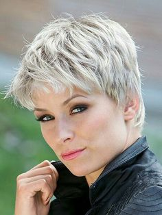20 Short Trendy Pixie Haircuts 2019 , Short hair has always been the most trendy hairstyle. That's why we have gathered these short trendy hairstyles. Here are 20 Short Trendy Hairstyles . Grey Wig, Short Grey Hair, Short Hair Cuts For Women, Short Hairstyles For Women, Straight Hairstyles, Grey Hair Styles For Women, Short Pixie Haircuts, Pixie Hairstyles, Trendy Hairstyles