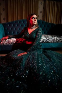 Jaipur Wedding With A Relaxed Vibe & Dazzling Bridal Outfits - MyStyles Indian Wedding Gowns, Indian Bridal Lehenga, Indian Gowns Dresses, Indian Bridal Outfits, Indian Bridal Fashion, Indian Fashion Dresses, Pakistani Bridal Dresses, Dress Indian Style, Indian Designer Outfits
