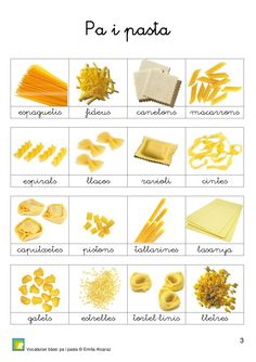 Pa i pasta Catalan Language, Valencia, Clip Art, Teaching, Food, School, Learn Spanish, Preschool, Spanish Classroom Activities