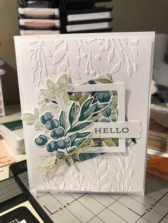 Karten Diy, Leaf Cards, Stamping Up Cards, Flower Cards, Greeting Cards Handmade, Scrapbook Cards, Homemade Cards, Ferns, I Card