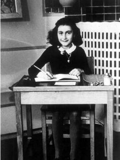 Anne Frank. | 16 Wonderful Photos Of Women Writers AtWork