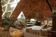 Photographic Print: Geodesic Dome House Designed by Cathedralite Domes for Dr Charles Bingham, Fresno, CA, 1972 by John Dominis : Futuristic Architecture, Interior Architecture, Sustainable Architecture, Contemporary Architecture, Yurt Interior, Residential Architecture, Contemporary Houses, Yurt Living, Geodesic Dome Homes