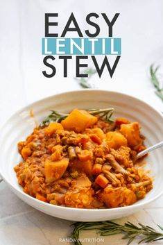 Vegetable Lentil Stew Healthy Vegetables, Best Healthy Soup Recipe, Healthy Dinner Recipes, Healthy Comfort Food, Healthy Nutrition, Nutrition Tips, Healthy Eating, Lentils Benefits
