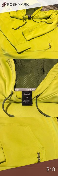 Reebok men's hoodie New reebok Men's hoodie size M perfect condition inside and out. More green than yellow in color Reebok Shirts Sweatshirts & Hoodies