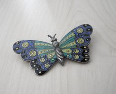 Vintage Art Deco Butterfly Brooch by LisaWitmerCollection on Etsy, $70.00