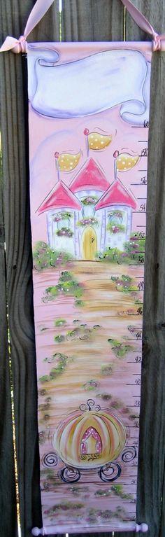 Hand Painted  Princess Growth Chart. $59.99, via Etsy.
