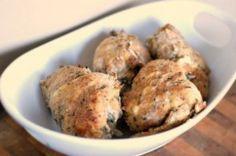 Stuffed Roasted Garlic and Herb Cream Cheese Chicken