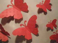 20 Beautiful Red Butterflies by DimensionalVision on Etsy