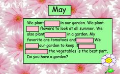 SMART Board: Guess the Covered Word for May