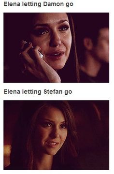 Lets just be reminded of the fact that elena was human when she let damon go and when she let stefan go she had just turned her humanity back on!