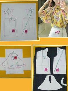 Enchanting Sewing Patterns Clone Your Clothes Ideas Dress Sewing Patterns, Blouse Patterns, Clothing Patterns, Fashion Sewing, Diy Fashion, Sewing Collars, Costura Fashion, Sewing Sleeves, Bodice Pattern