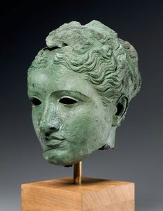 Stone and bronze head of goddess or queen. Greek. Ptolemaic Hellenistic Period, c. 300 - 270 B.C. | Museum of Fine Arts, Boston