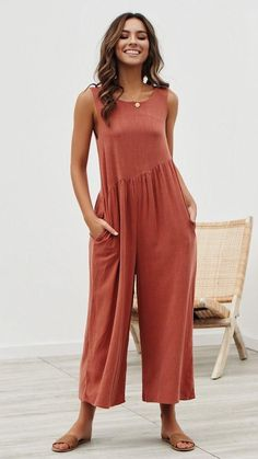 Spring summer women's jumpsuit casual romper work wear backless sleeveless harajuku pants coveralls solid overalls - Dress Shop Jumpsuit Outfit, Casual Jumpsuit, Jumpsuit Style, Summer Jumpsuit, Casual Pants, Shirt Dress, Rompers Women, Jumpsuits For Women, Overall Shorts