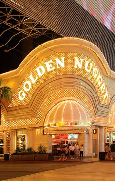 The Golden Nugget was built in 1946 on Fremont Street.  It's the largest casino in the downtown area and is one of two hotels in city limits to receive AAA's Four Diamond rating for 32 consecutive years (1977 - 2009).