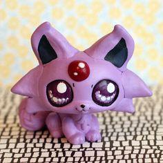 RESERVED FOR ilshipmp1: Espeon Pokemon inspired Littlest Pet Shop custom