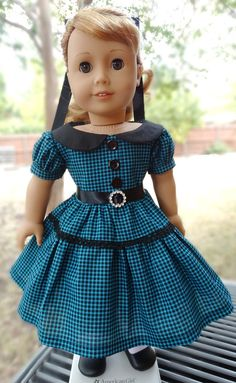 1950's Fall Dress for AG Maryellen by Designed4Dolls on Etsy   $24.95