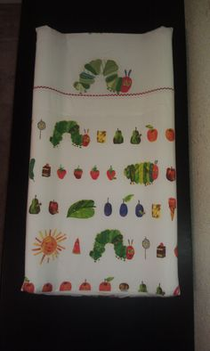 Better picture of the Hungry Caterpillar Changing Pad Cover I made to match the Pottery Barn Bedding I got for the nursery :) Hungry Caterpillar Nursery, Very Hungry Caterpillar, Eric Carle, Babies Stuff, Decorating Tools, Changing Pad, Baby Boy Nurseries, Pottery Barn, Bedding