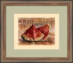 """Fruit Stand Watermelon"" by Jerianne Van Dijk -16""W x 14""H -"
