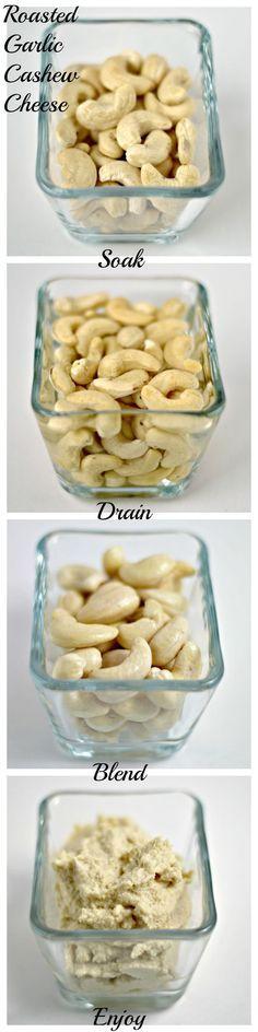 Vegan 'Roomkaas' van geweekte cashewnotes en knoflook