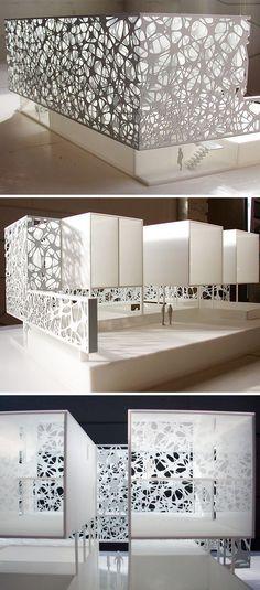 49 Ideas Origami Architecture Facade For 2019 Architecture Design, Facade Design, Concept Architecture, Scale Model Architecture, Origami Architecture, Planer Layout, Interior And Exterior, Interior Design, Arch Model