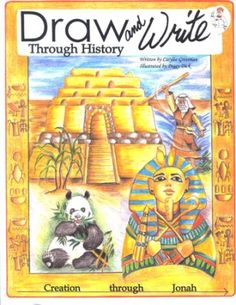 Draw and Write through History: Creation through Jonah   -     By: Carylee Gressman- writing, history, and art from a creationist christian perspective- good supplement to a chronological history for middle elementary +