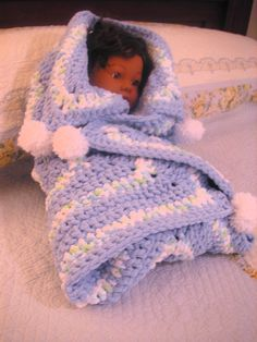 Soft & Cuddly Star Baby Blanket makes a great baby bunting wrap!  Available w/ matching hat @  www.VictoriaCrochet.etsy.com