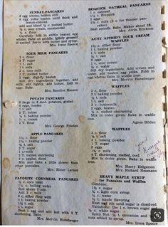 Retro Recipes, Old Recipes, Waffle Recipes, Vintage Recipes, Cookbook Recipes, Brunch Recipes, Baking Recipes, Sweet Recipes, Gastronomia