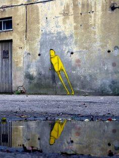 autonome kunst. streetart is dan ook wel vaak autonoom.