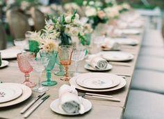 A Vineyard Wedding With Mountain Views Of Malibu   Photography : carolinetran.net   fabmood.com #tablescape