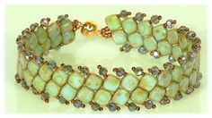 Seed bead jewelry List of supplies for Green bracelet. Pattern is here: beadwork.about.co... ~ Seed Bead Tutorials Discovred by : Linda Linebaugh