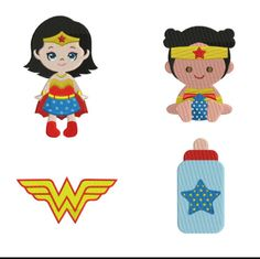 Baby Wonder Woman Full Fill Embroidery Design
