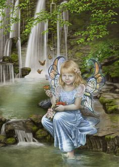 SciFi and Fantasy Art Butterflies Lake by Cris Ortega