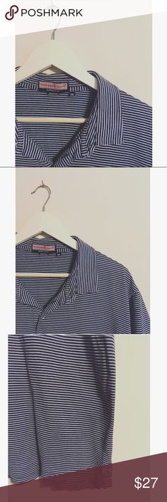 Vineyard Vines Men's Blue + White Nautical Sz XXL No flaws. Perfectly preppy. ||length: 30, Sleeve: 9, Bust armpit-to-armpit: 26. Vineyard Vines Shirts