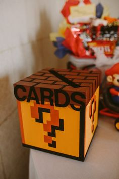 Mario themed card box