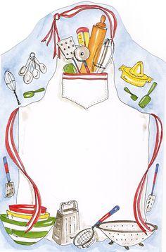 Download de convites para chá de cozinha chá de panela Recipe Book Templates, Printable Recipe Cards, Kitchen Logo, Kitchen Wall Art, Kitchen Prints, Homemade Recipe Books, Recipe Paper, Cake Logo Design, Recipe Scrapbook