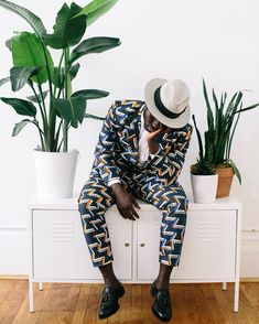 Whether you're into edgy street wear, formal wear or all about prints with preppy sophistication and modern sensibility, look no further. Afro Men, Kitenge, Stylish Men, African Fashion, Panama Hat, Harem Pants, Jumpsuit, Menswear, Mens Fashion